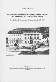 Dokumentation von Prof.em. Dr. Gottfrid Meinhold, 2021