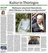 Dokument 16: Thüringer Allgemeine 17.4. 2014 über Wallmanns OFFENEN BRIEF an Daniel Barenboim