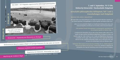 Entwurf eines Kolloquiums zu INTEGRALE MODERNE // hier  S.156-157 aus dem Sammelband Integral-Art-Festspiele (Vision und Dokumentation)
