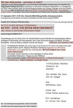Einladung zur Buchpremiere am 27.9. 2017 in der Heinrich-Böll-Stiftung Berlin
