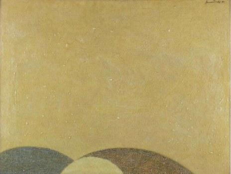 """""""Viele mögen mit Erstaunen wahrgenommen haben, dass eine erlebnishafte Versenkung in zeitgenössische Musik ... ganz einfach durch Hinhören möglich ist ... Hier entfaltet sich eine fesselnde Musik wie aus einem Keim von innen heraus."""" (Sächsische Zeitung 10.09.1979 zu Wallmanns »Synopsis« mit Diaprojektionen von Kurt W. Streubel), Foto: Kurt W. Streubel """"DIE ZEIT"""" (1971) in H. Johannes Wallmann """"NEUE SINFONIE?"""" - Projektion inTeil V"""