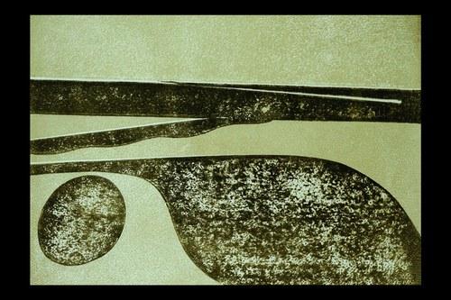 """Sächsische Zeitung 10.09.1979 zu »Synopsis«: »...vermochte """"Synopsis"""" wahrhaftig durch so etwas wie herbe Schönheit zu ergreifen. ... Die Unaufdringlichkeit, Geschliffenheit und stille Freude, mit der das Stück von der Gruppe Neue Musik Weimar gespielt wurde, zog die Aufmerksamkeit vom ersten bis zum letzten Ton auf sich. ...Hier entfaltet sich eine fesselnde Musik wie aus einem Keim von innen heraus.«.Abbildung: Kurt W. Streubel: Variationen esoterisch"""